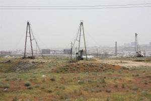 Aserbaidschan - Baku - die ersten Ölbohrtürme