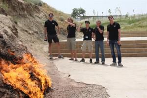 Aserbaidschan - Baku - Yanar Dagh - der brennende Berg